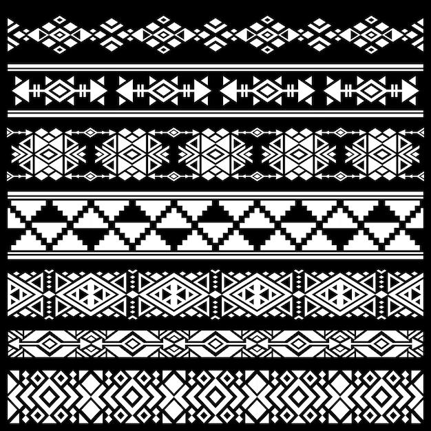 メキシコ、アメリカの部族の芸術の装飾ベクトル Premiumベクター