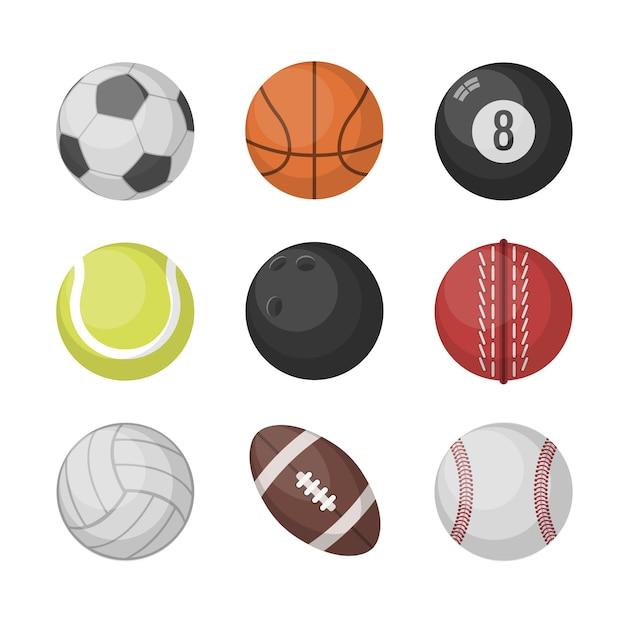 スポーツボールベクトルセット Premiumベクター