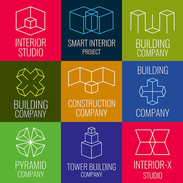 建築会社 Premiumベクター