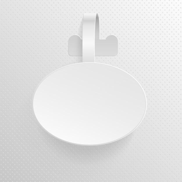 空白の広告は、プラスチック製の楕円 Premiumベクター