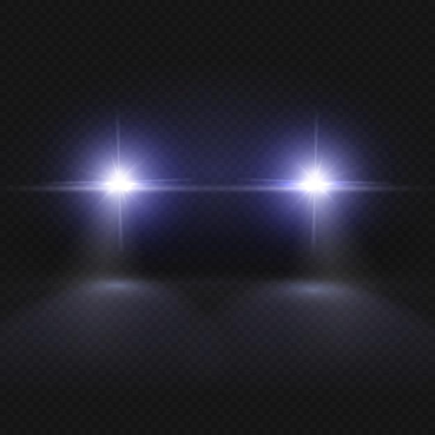 車のヘッドライト Premiumベクター