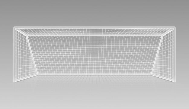 Футбол футбол цель реалистичный спортивный инвентарь Premium векторы