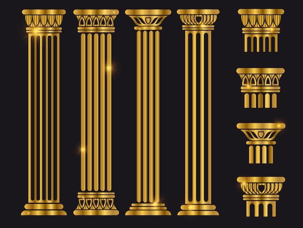 Набор колонн древнеримской архитектуры Premium векторы