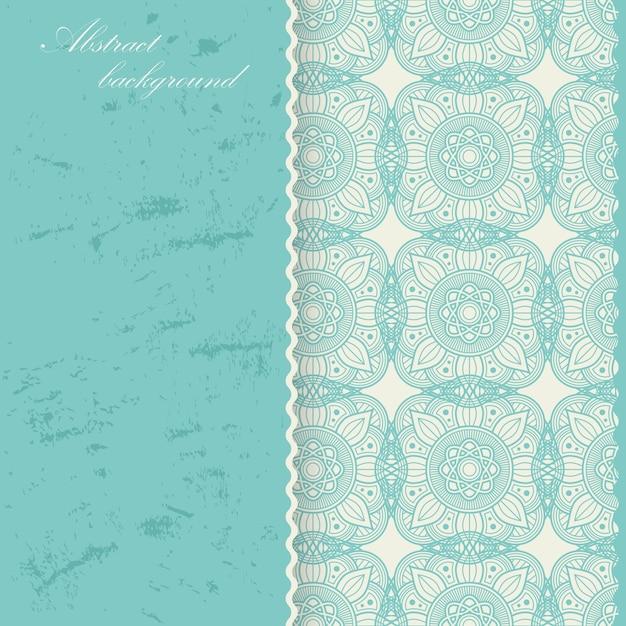 Восточный дизайн фона мандалы. азиатский, арабский декоративный орнамент Premium векторы