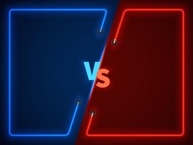 対戦闘、ネオンフレームとの対決ビジネス対 Premiumベクター