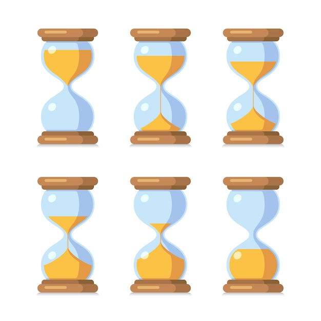 Античные песочные часы спрайт лист анимации. Premium векторы