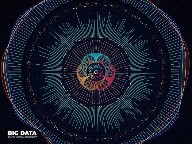 ビッグデータの背景 Premiumベクター