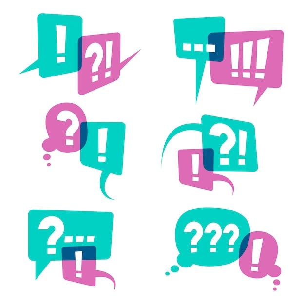 スピーチ泡アイコン、ビジネスクエリコンセプトに疑問符 Premiumベクター