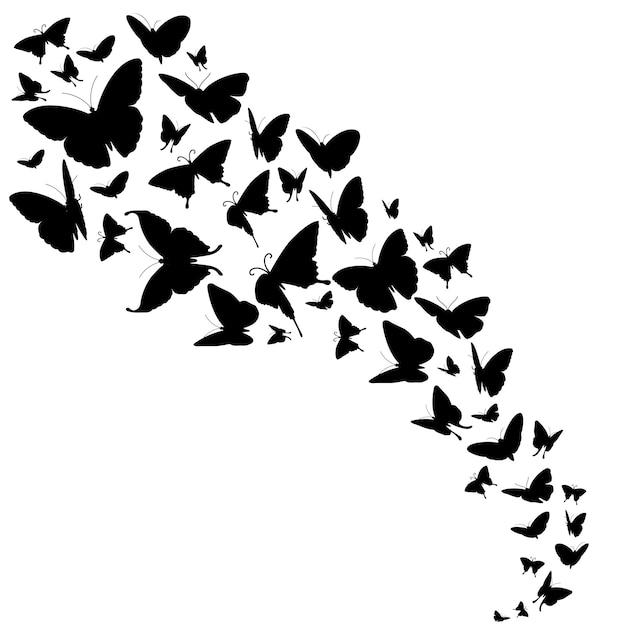 蝶と抽象的な装飾 Premiumベクター