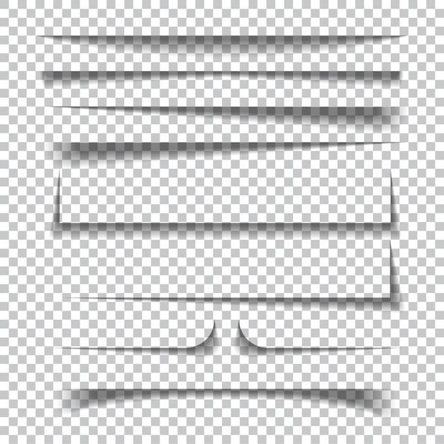 Бумажные тени Premium векторы