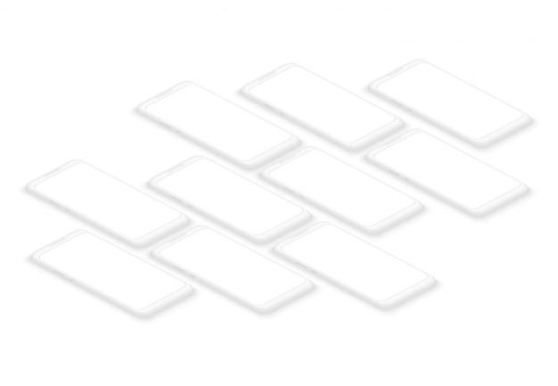 Набор пустых смартфонов Premium векторы