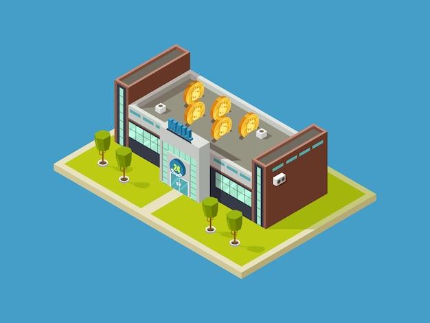 Торговый центр изометрические вектор дизайн. торговый центр Premium векторы