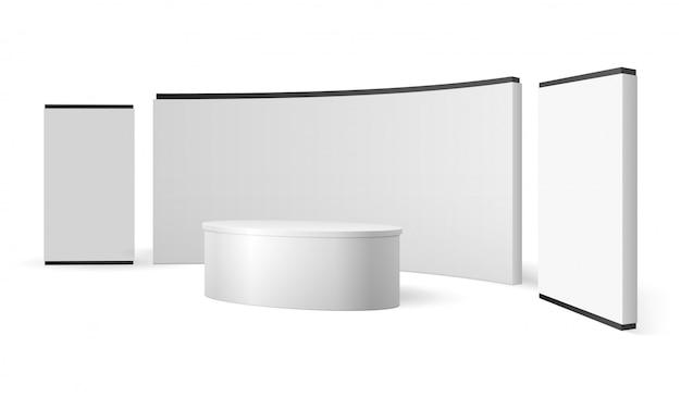 Рекламный стенд для выставочного стенда Premium векторы