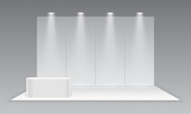 Пустой выставочный стенд Premium векторы