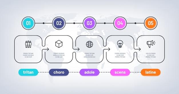 Шаблон бизнес-схемы Premium векторы