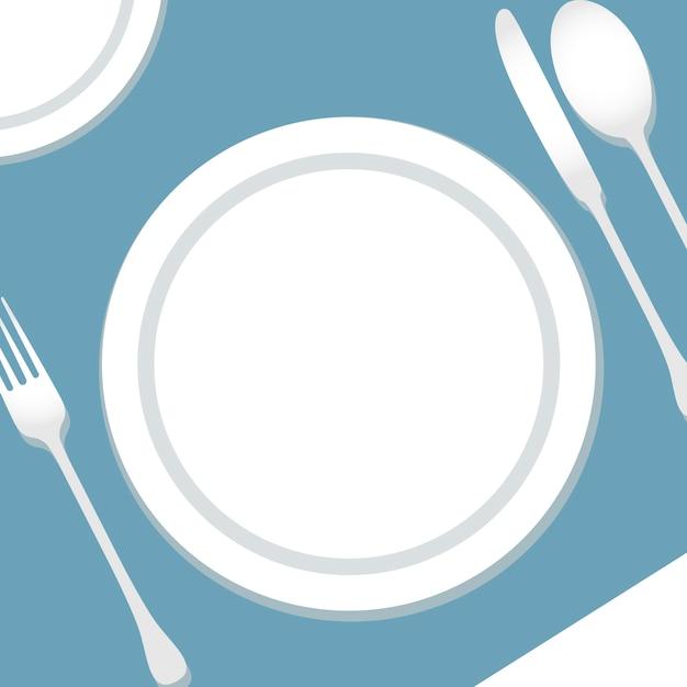 テーブル設定図 Premiumベクター