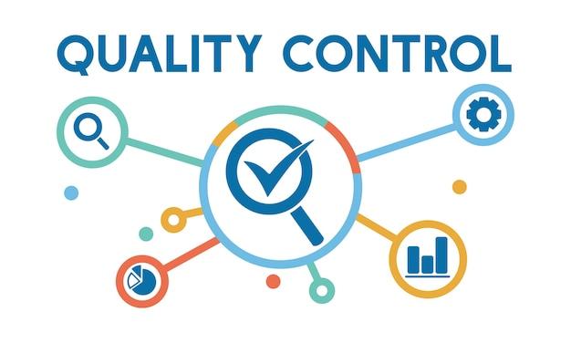 Иллюстрация контроля качества Бесплатные векторы