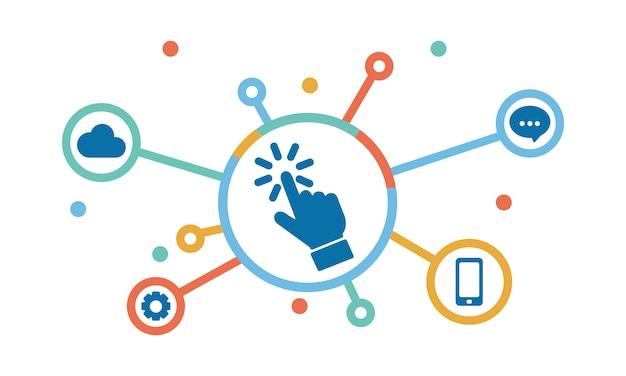 Иллюстрация концепции социальных сетей Бесплатные векторы