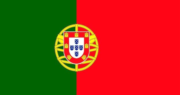Иллюстрация флага португалии Бесплатные векторы