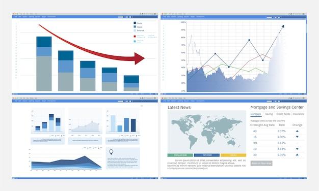 データ分析グラフの図 無料ベクター