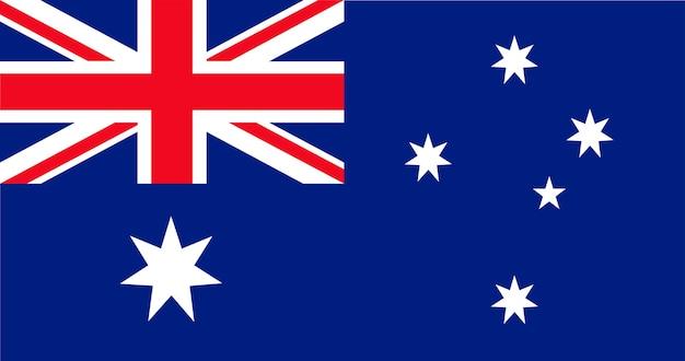 Иллюстрация флага австралии Бесплатные векторы