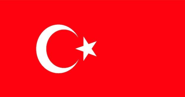 トルコの国旗のイラスト 無料ベクター