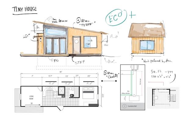 家の計画のイラスト ベクター画像 無料ダウンロード