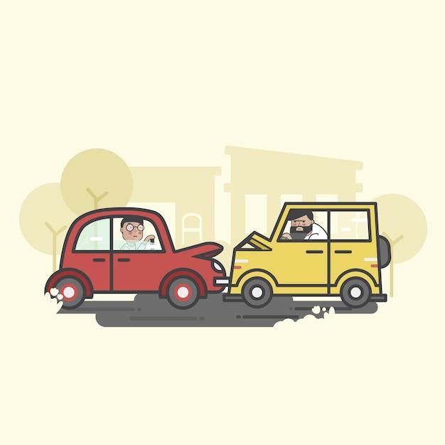 交通事故 無料ベクター