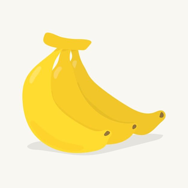 手描きのカラフルなバナナイラスト 無料ベクター