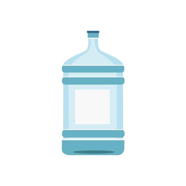 白いイラストで隔離された水のボトル 無料ベクター
