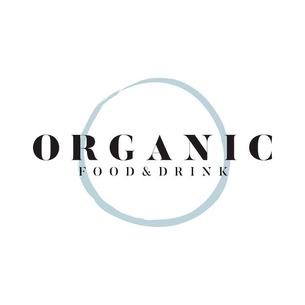 有機食品と飲み物のロゴベクトル 無料ベクター