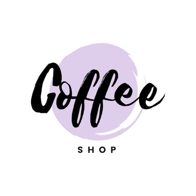 コーヒーショップロゴのブランドベクトル 無料ベクター
