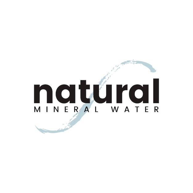 天然ミネラルウォーターロゴベクトル 無料ベクター