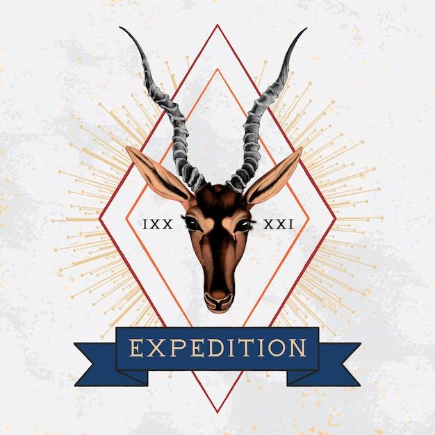 遠征旅行ロゴデザインベクトル 無料ベクター