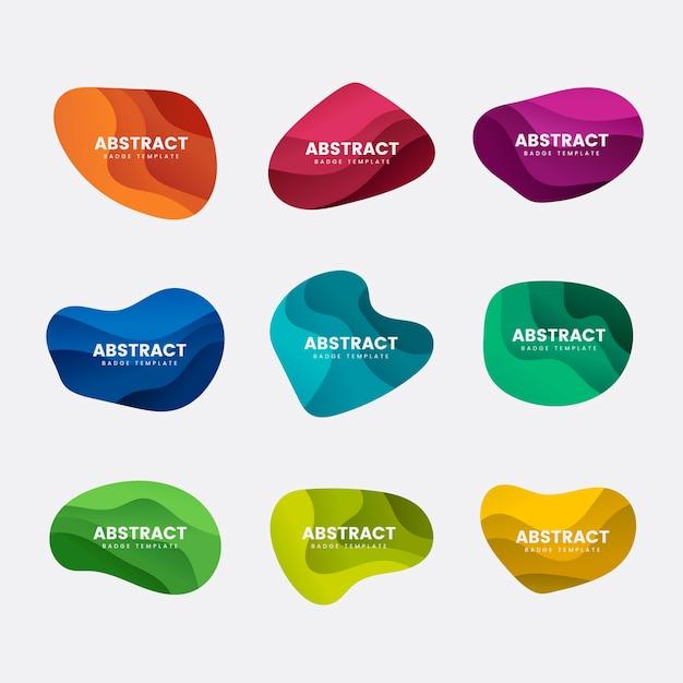抽象的なバッジデザインベクトルセット 無料ベクター