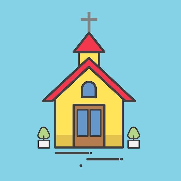 教会 イラスト