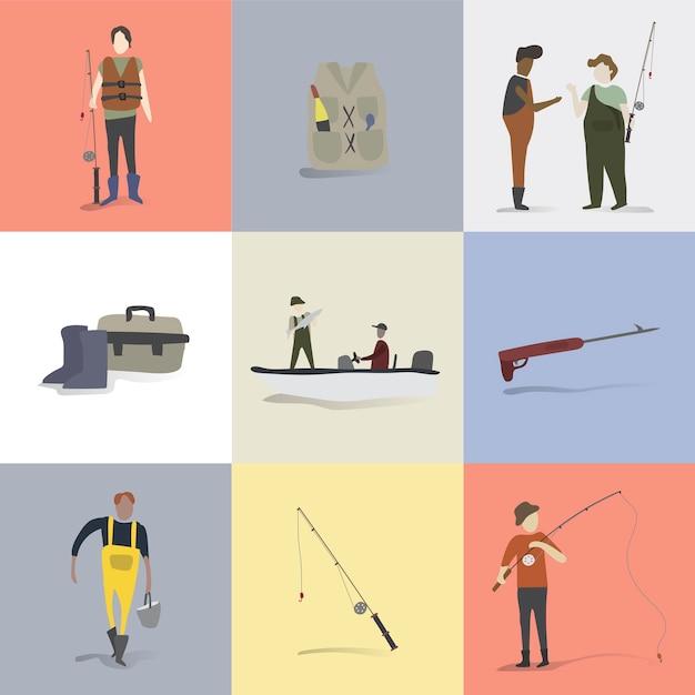 人間の趣味や活動のイラスト 無料ベクター