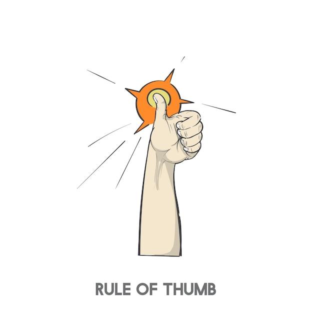親指のルール 無料ベクター