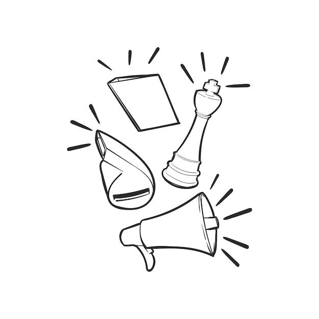 リーダーシップコンセプトの手描きイラスト 無料ベクター