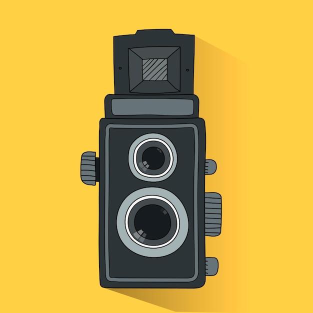 アナログフィルムカメラのベクトル 無料ベクター