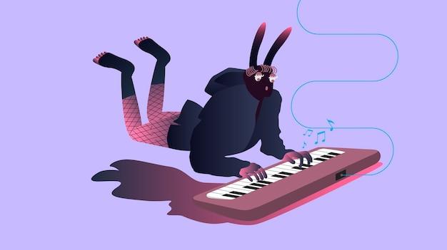 Иллюстрация сюрреалистических музыкантов Бесплатные векторы