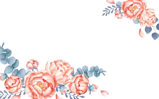 Белая поздравительная открытка с цветочным декором Бесплатные векторы