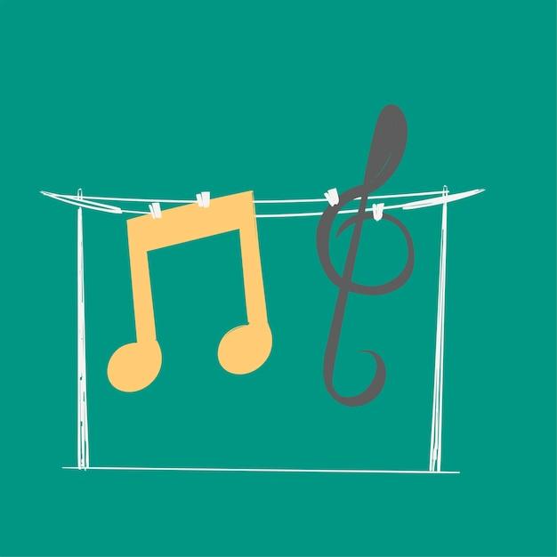 手、音楽、エンターテイメント、概念 無料ベクター