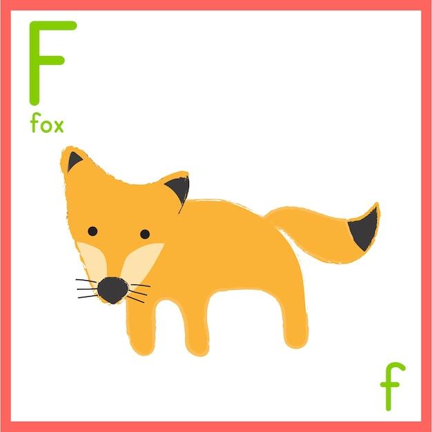 動物の絵でアルファベットの手紙のイラスト 無料ベクター
