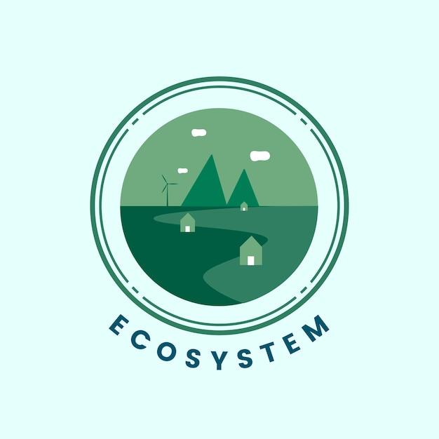 生態系と自然のアイコンベクトル 無料ベクター