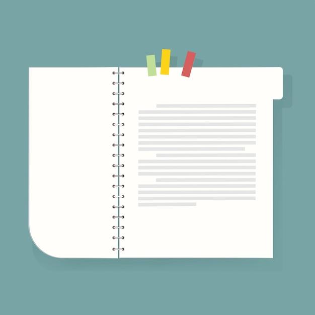 ノートブックの日記アイコンのベクトル図 無料ベクター