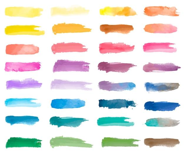 カラフルな水彩パッチの背景ベクトル 無料ベクター