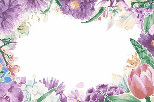ヴィンテージ花飾り 無料ベクター