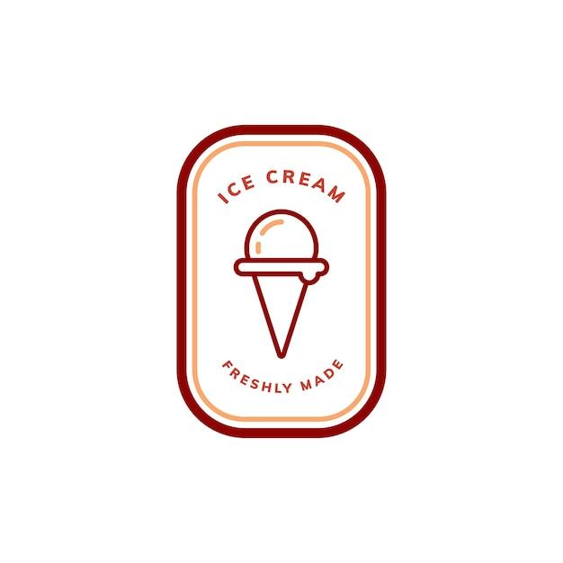 Свежеприготовленный логотип для логотипа мороженого Бесплатные векторы