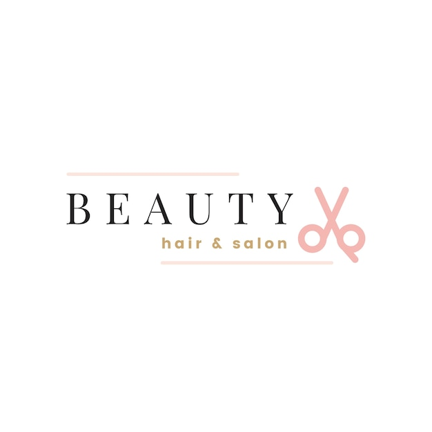 美容院のロゴデザインベクトル 無料ベクター